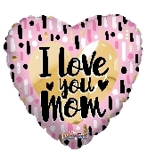"""18"""" I Love You Mom Gold & Pink Foil Balloon"""