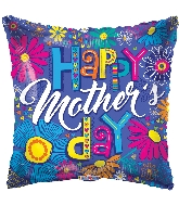 """18"""" Happy Mother's Day Sketchy Letters Foil Balloon"""