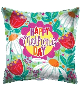 """18"""" Happy Mother's Day Tulips & Daisies Foil Balloon"""