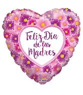 """18"""" Feliz Día De Las Madres Flowers Foil Balloon"""