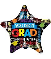 """18"""" Grad Messages GelliBean Foil Balloon"""
