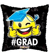 "18"" #Grad Smiley GelliBean Foil Balloon"