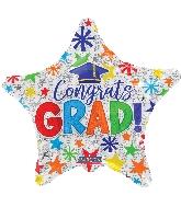 """18"""" Congrats Grad! Star Foil Balloon"""