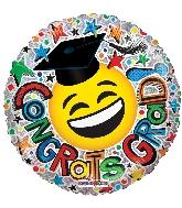 """18"""" Congrats Grad Smiley Ho Foil Balloon"""
