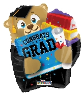 "18"" Bear With Grad Elements Shape Foil Balloon"