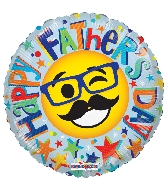 "18"" Happy Father's Day Smiley GelliBean Foil Balloon"