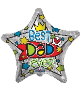 "18"" Best Dad Ever Foil Balloon"