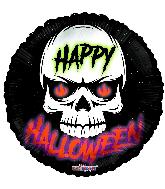 """18"""" Halloween Skull Foil Balloon"""