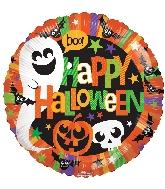 "18"" Halloween Happy Ghost Foil Balloon"