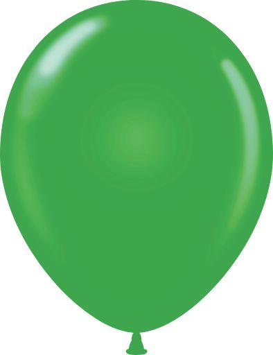 "11"" Standard Green Tuf Tex Latex Balloons 100 Per Bag"