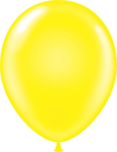 "11"" Standard Yellow Tuf Tex Latex Balloons 100 Per Bag"