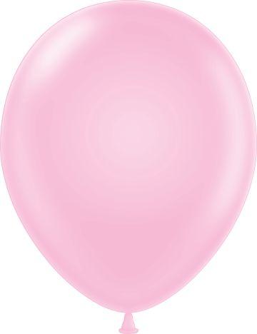 "11"" Pastel Baby Pink Tuf Tex Latex Balloons 100 Per Bag"