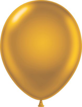 "11"" Pearl Gold Tuf Tex Latex Balloons 100 Per Bag"