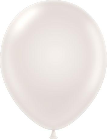"11"" Pearl Pearl White Tuf Tex Latex Balloons 100 Per Bag"