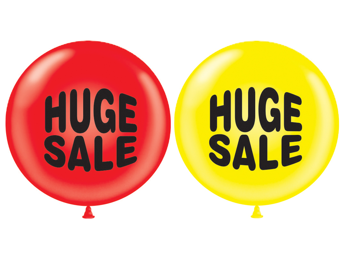 "36"" Tuf Tex Latex Balloon 2 Count Huge Sale (Red, Yellow)"