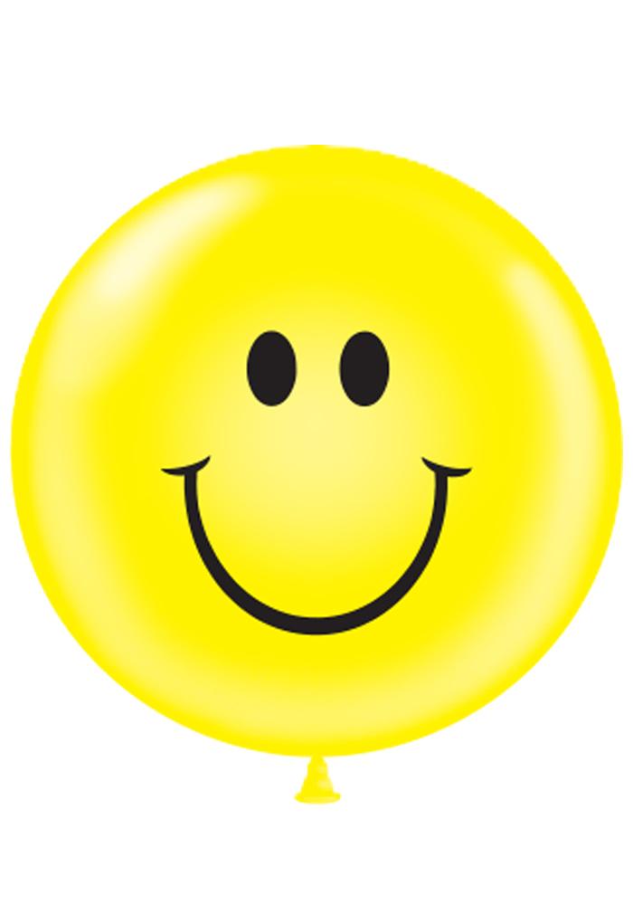 "36"" Tuf Tex Latex Balloon 2 Count Smiley Face (Yellow)"