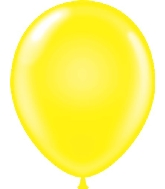 "9"" Standard Yellow Tuf Tex Latex Balloons 100 Per Bag"