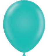 "17"" Pastel Teal Tuf Tex Latex Balloons 50 Per Bag"