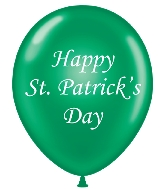 "17"" St Patrick's Day Day Printed Latex Balloons 50 Per Bag"