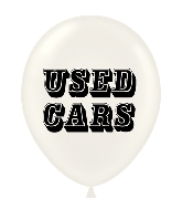 "17"" Used Cars Printed Latex Balloons 50 Per Bag"