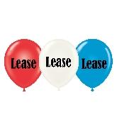 "17"" Lease Printed Latex Balloons 50 Per Bag"