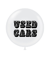 "36"" Tuf Tex Latex Balloon 2 Count Use Cars (White)"