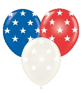 """11"""" Latex Balloons Big Stars Assorted 50 Count"""
