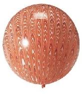 "18"" Peacock Balloon Latex Balloon Orange (5 Count)"