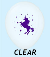 "11"" Unicorn Latex Balloons 25 Count Clear"