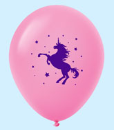 "11"" Unicorn Latex Balloons 25 Count Magenta"