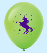 "11"" Unicorn Latex Balloons 25 Count Lime Green"