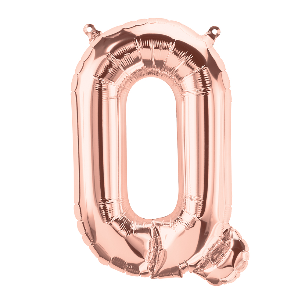 """16"""" Airfill Only Letter Q - Rose Gold  Letter"""