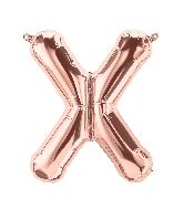 "16"" Airfill Only Letter X - Rose Gold  Letter"