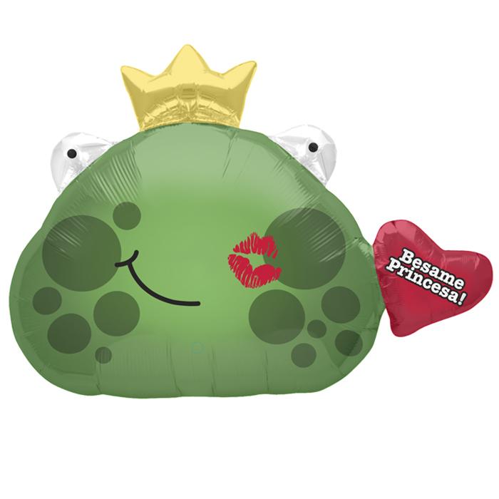 "32"" Foil Balloon Besame Frog Prince"