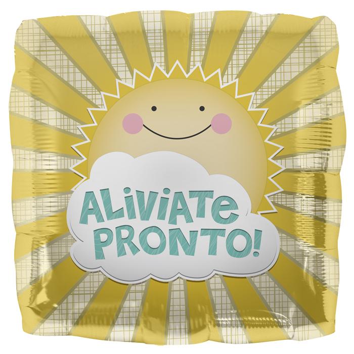 """18"""" Foil Balloon Aliviate Pronto Sol"""