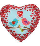 """18"""" Foil Balloon Te Amo Birds"""