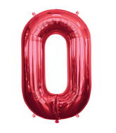 """34"""" Foil Balloon Chain Deco Link (Chain Link) - Red"""