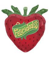 """28"""" Foil Balloon Felicidades Strawberry"""