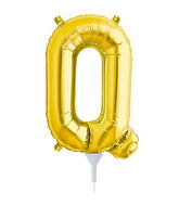 """16"""" Airfill Self Sealing Letter Q - Gold"""