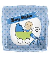 """18"""" Foil Balloon Soy Niño Buggy"""