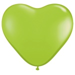 "6"" Heart Latex Balloons (100 Count) Lime Green"