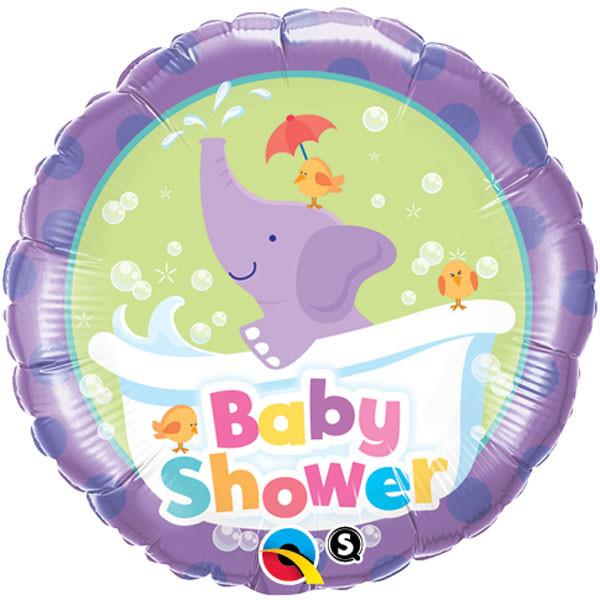 "18"" Baby Shower Elephant Packaged Mylar Balloon"