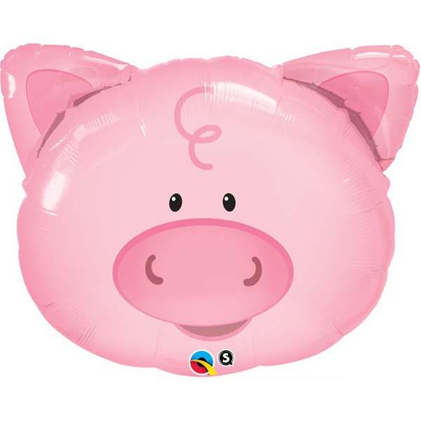 "30"" Playful Mylar Pig Balloon"