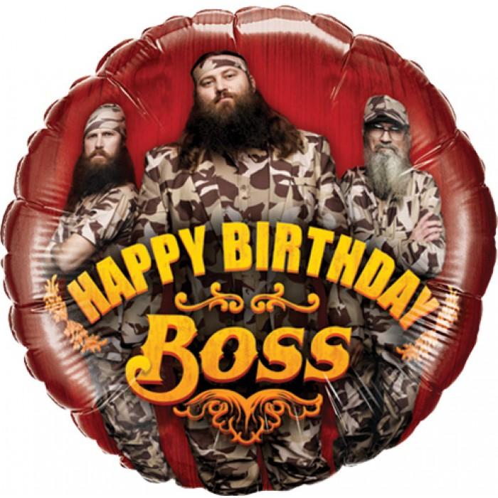 "18"" Duck Dynasty Happy Birthday Boss"