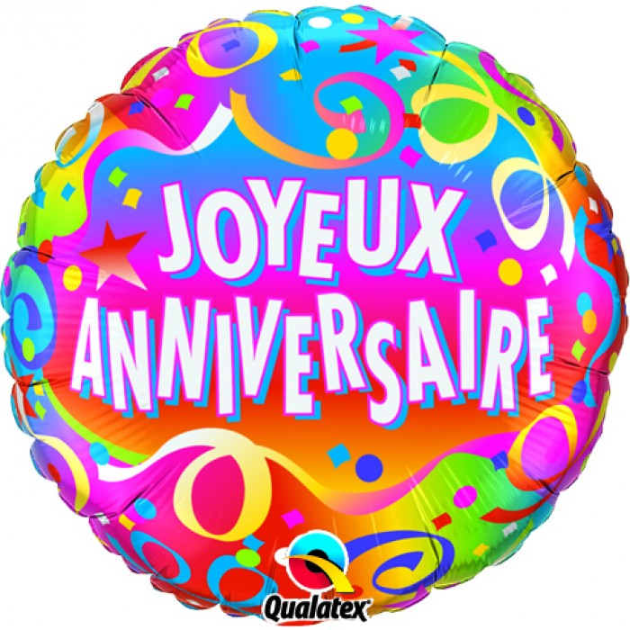 """Gold Star /& Tourbillons Félicitations 18/"""" Foil Balloon"""