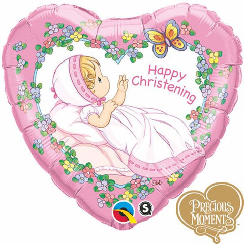 "18"" Happy Christening Girl Precious Moments"