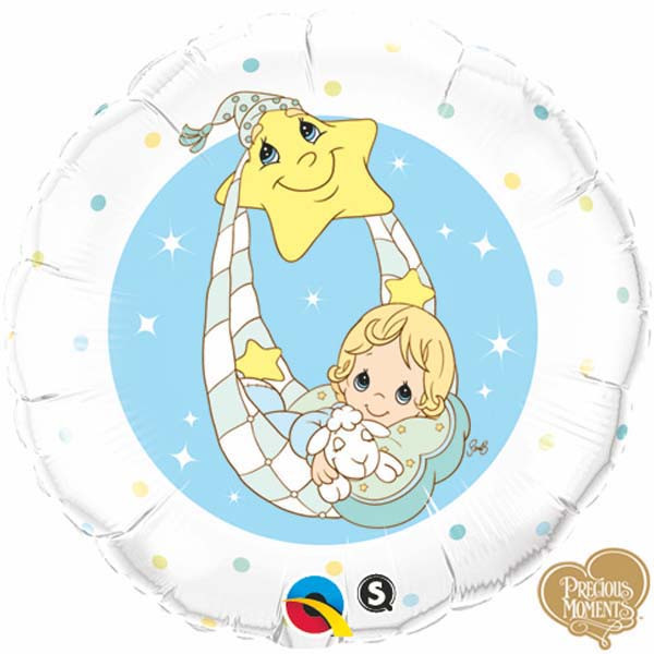 "18"" Precious Moments – Baby Blue Balloon"