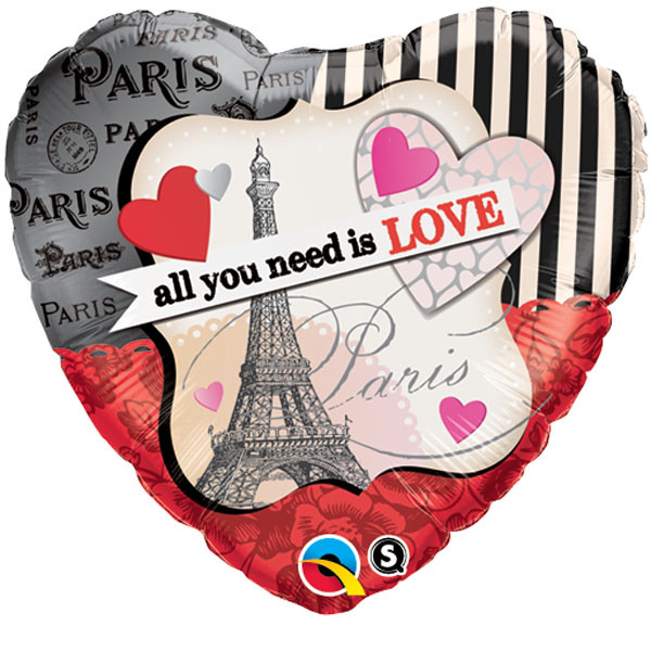 """18"""" All You Need Is Love Paris"""