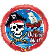 "18"" Birthday Mate Pirate Ship  Mylar Balloon"
