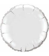 "36"" Round Circle Foil Mylar Balloon Silver"